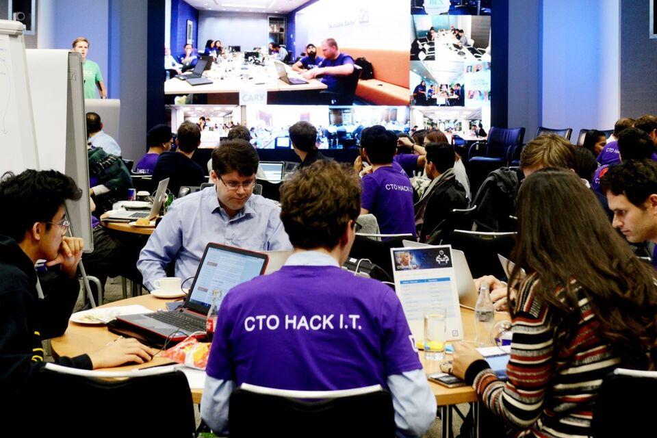 Deutsche Bank hackathon with staff and autistic interns