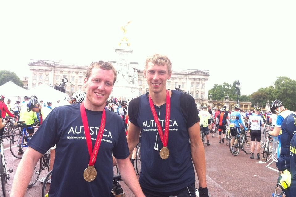 Hugh And James Ride London 2014